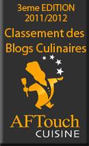 AFTouch cuisine, classement des blogs