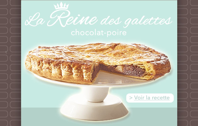 Galette chocolat - poire, crédit photo Guy Demarle
