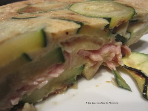 Clafoutis courgettes-jambon